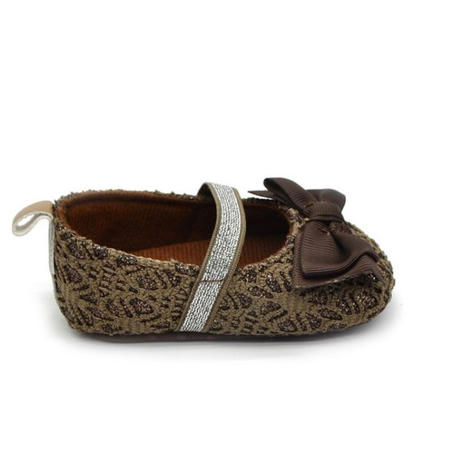 zapatos bebe niña cafe profundo moño al frente num 11