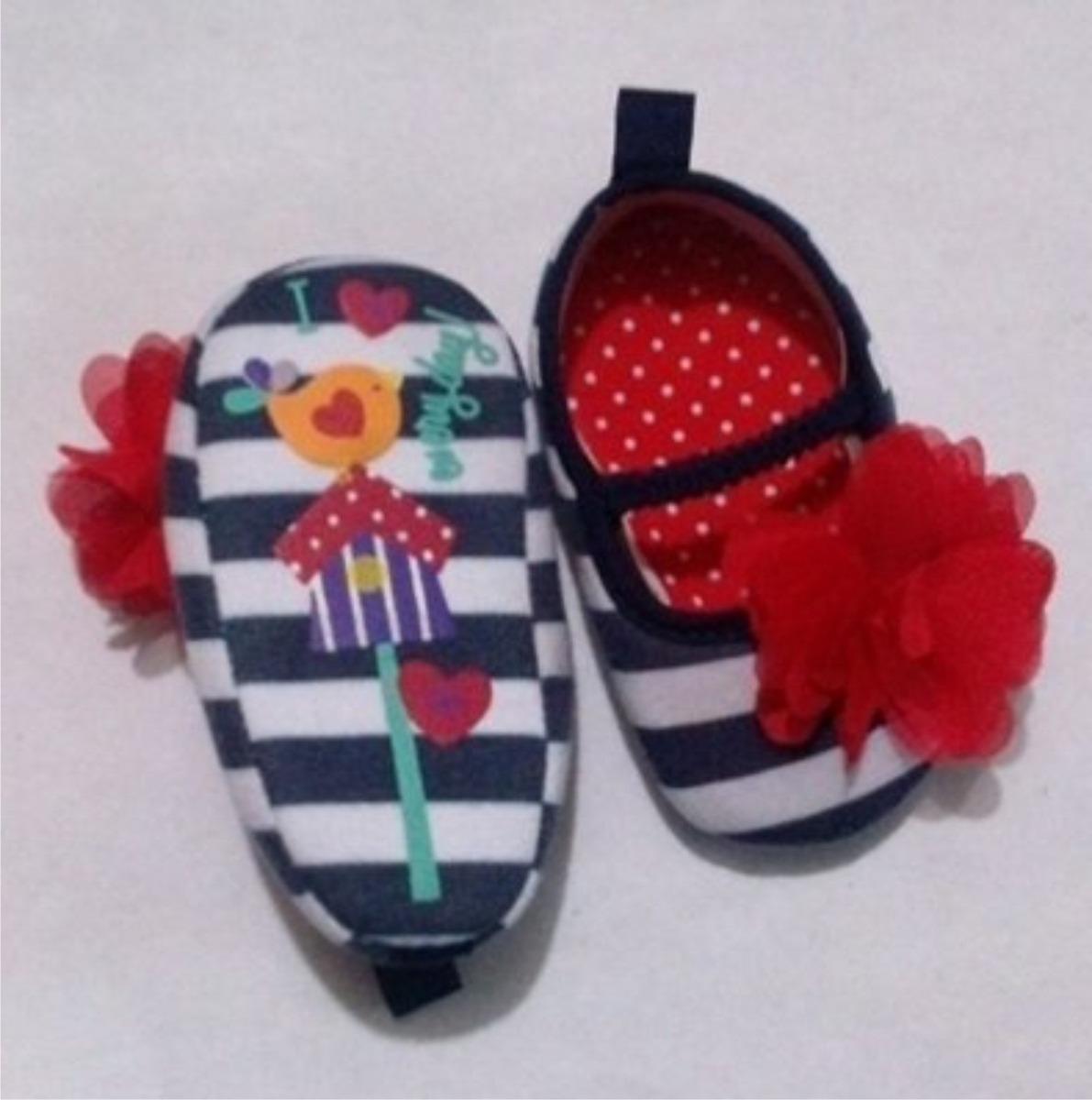 f0670447a19b9 Zapatos Bebe Niña Niño Zapatito Rayas Flor -   99.00 en Mercado Libre