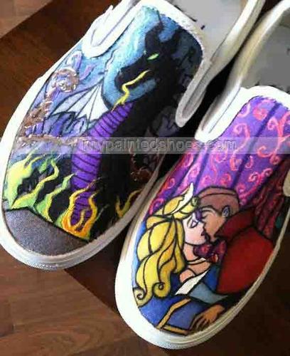 zapatos bella durmiente princesas diseño hecho a mano marca