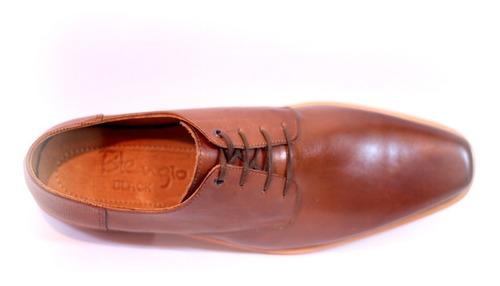 zapatos blengio marquis de vestir 100% cuero de suela marrón