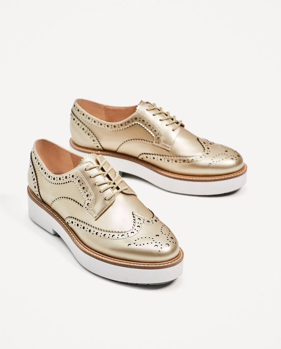 2256ea038ee zapatos blucher dorado metalizado zara. Cargando zoom.