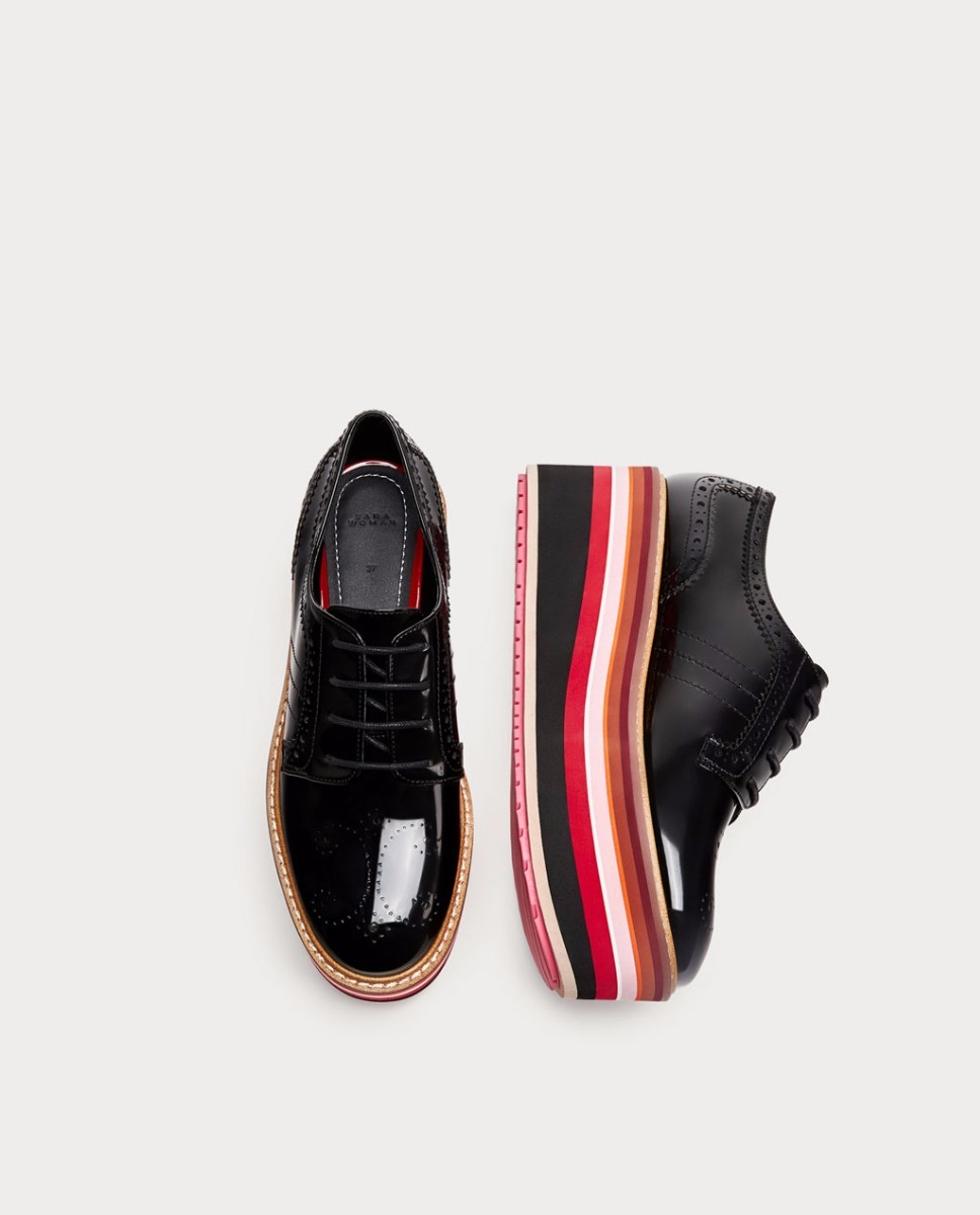 Zapatos Cargando Zoom Zara Plataforma New Multicolor Blucher Negros  rUqa0wxrY cef56bd2c11