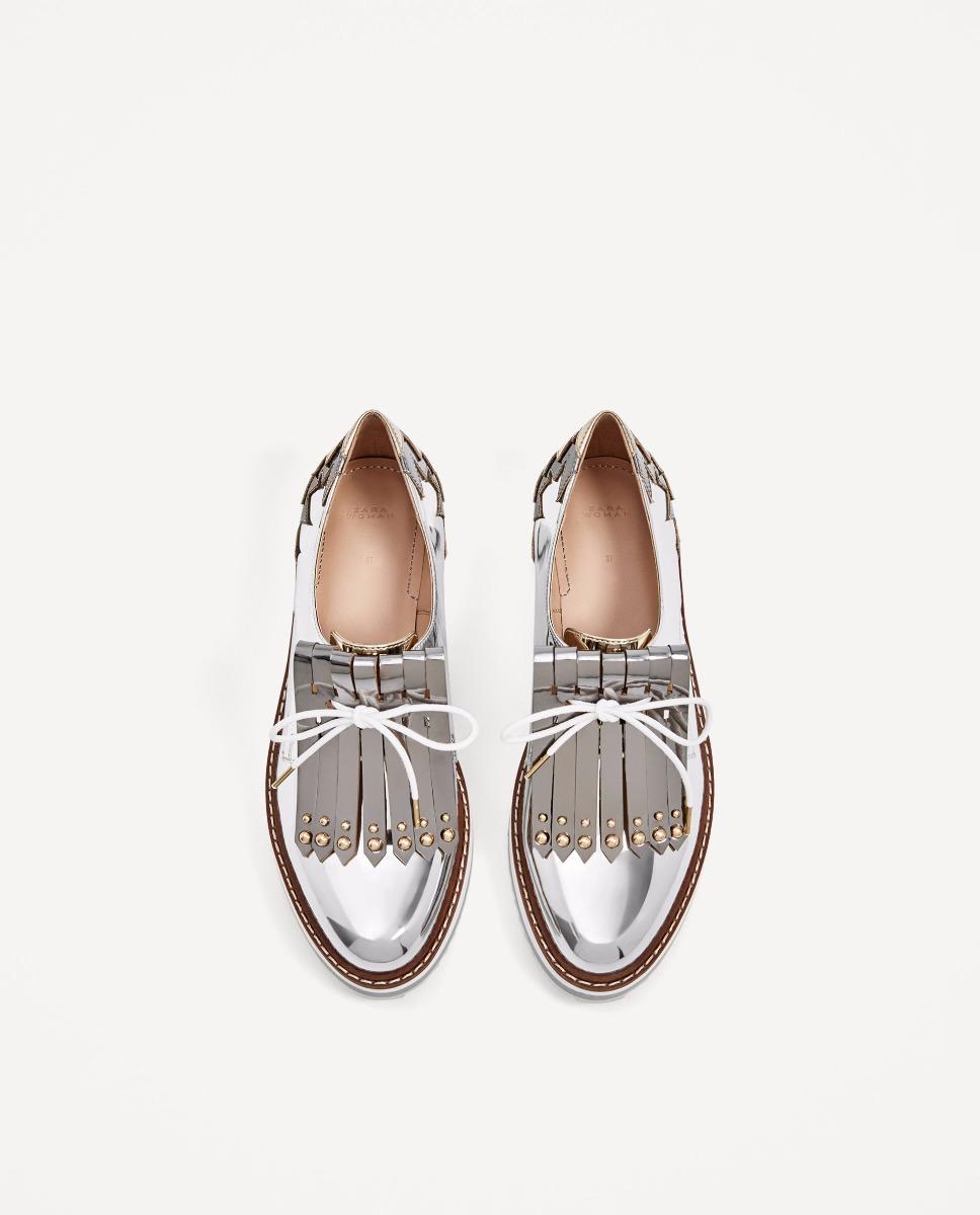 00 790 2 En Zapatos Flecos Blucher Con Plataforma Zara Importado ZqdgPBgTw