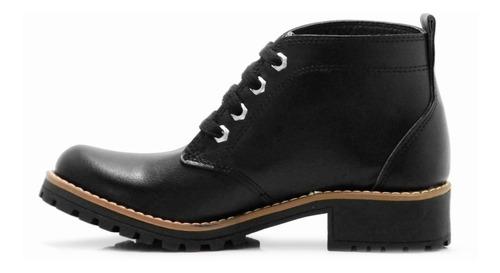 zapatos borcegos negros mujer botas acordonado hotsale
