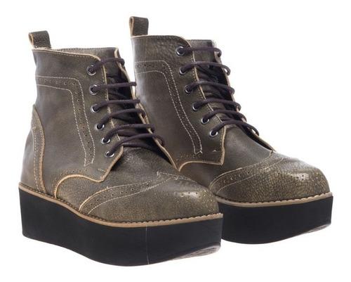 zapatos  borceguíes heyas soraya oro