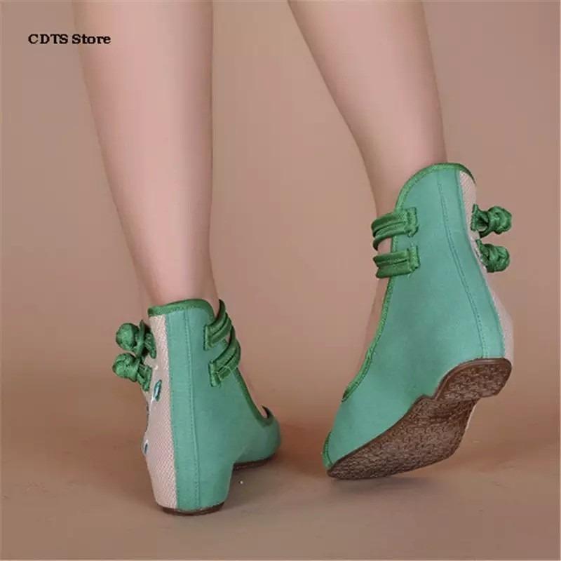 Dama Para 449 Zapatos Bordados Artesanales 00 En Moda Japonesa RqRxtEn6