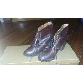 Zapatos Bota Mujer Clona Talle 38 - De Cuero Original