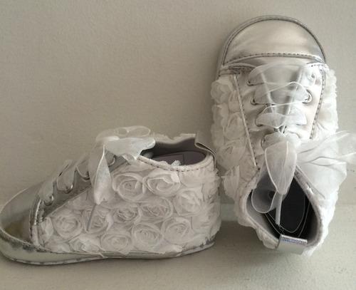 zapatos bota para bebe niña blanco