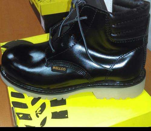 zapatos botas  dieléctricas   punta acero wellco cuero