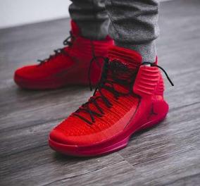 Zapatos Botas Jordan Rojas 3944