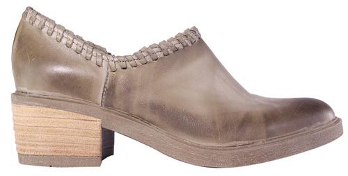 zapatos botas mujer cuero texanas taco cierre moda tops