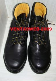 Punta Seguridad Cuero Botas Zapatos 42 De Talla Negro Hierro D2e9WHEYI