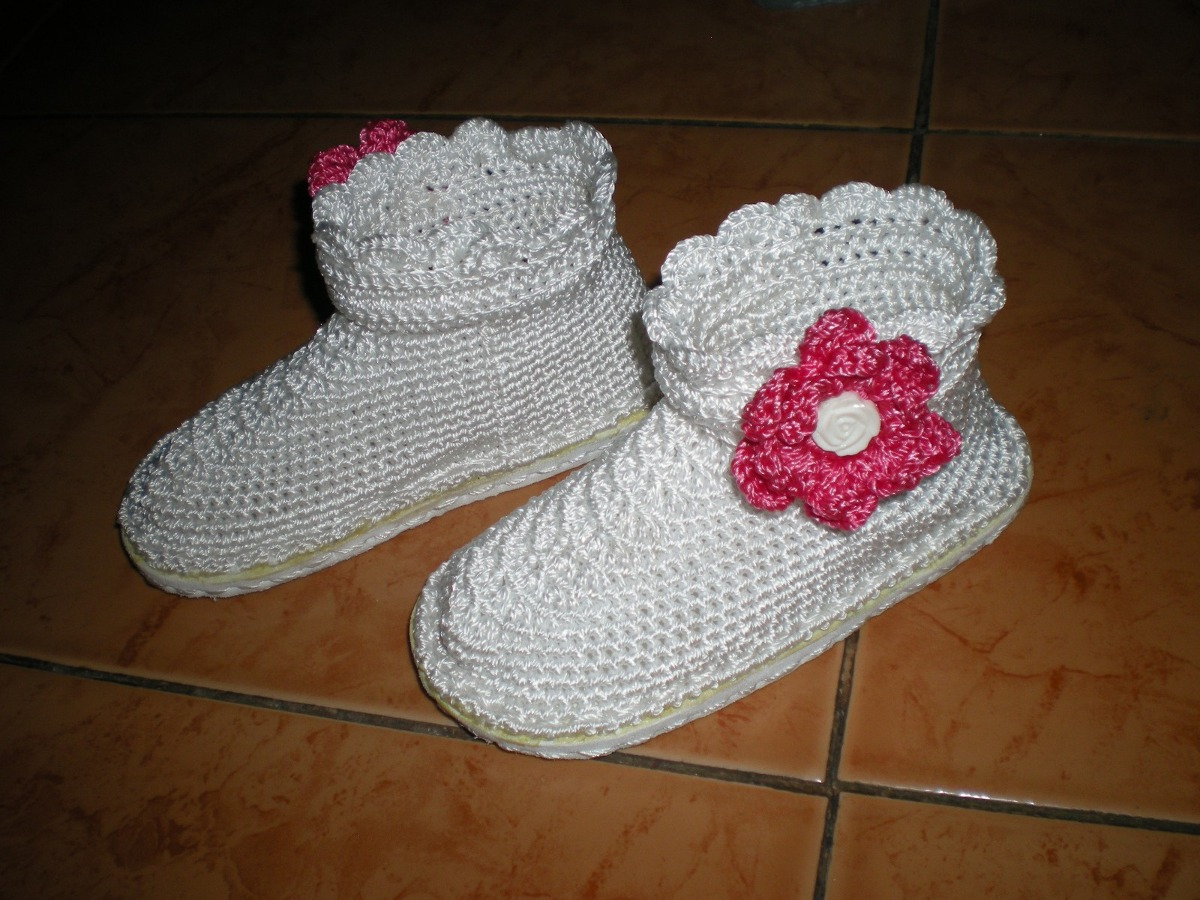 Zapatos botas y sandalias tejidos para ni as bs - Ideas para decorar zapatos de nina ...