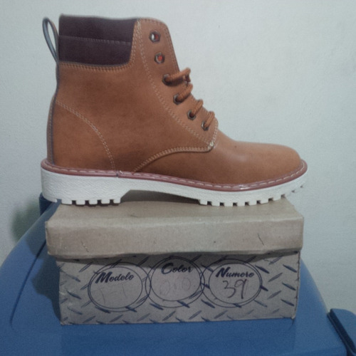 zapatos botin casual tipo timberland talla 39 nuevos