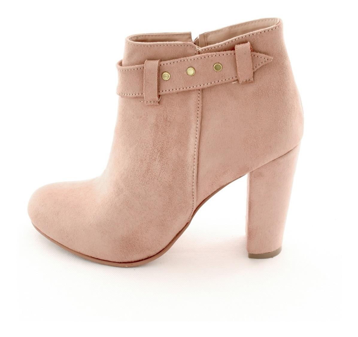 Ancho Mujer Zapatos Gamuza Dama Tacon M4290449 00 Botin Beige myN8wOvn0