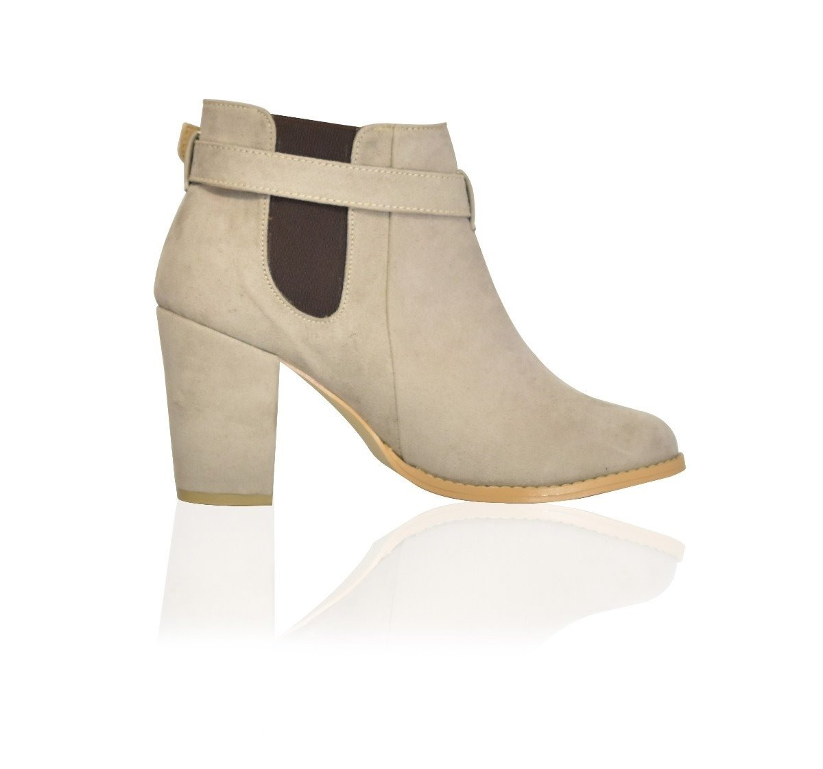 eef4267ae63 Zapatos Dama Ancho Gamuza Maquillaje M2035 Mujer Tacon Botin BBwq4grFC