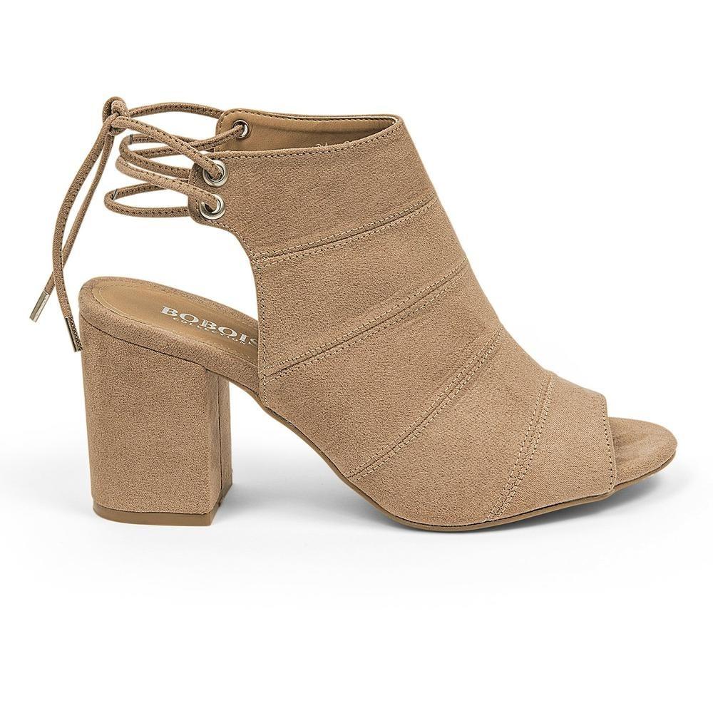 talla 40 db1b0 c3537 Zapatos Botines Dama Abiertos Moda Mujer Beige