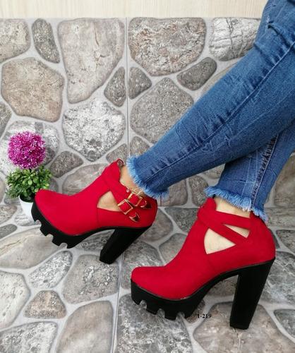 zapatos botines de plataforma moda colombiana para dama