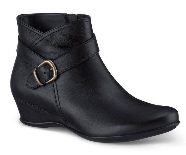 56040790827ff Zapatos Botines Negros Andrea D Piel Para Dama Tacón Bajito ...
