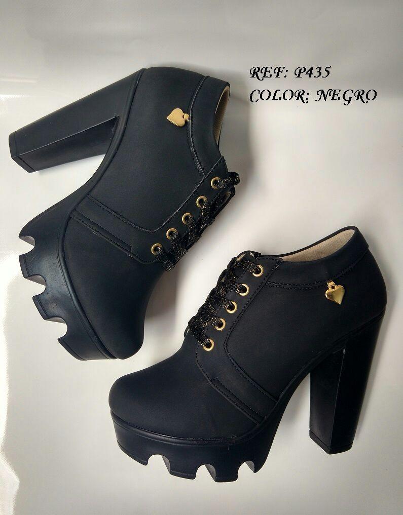 15e8f09b998 zapatos botines negros de moda calzado mujer que encantan. Cargando zoom.