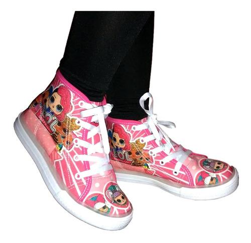 zapatos botines para niñas niños lol spiderman frozen