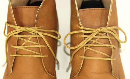 zapatos botitas marrones 100% cuero vacuno de hombre