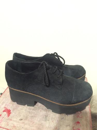 zapatos botitas plataforma negros talle 39 nuevos