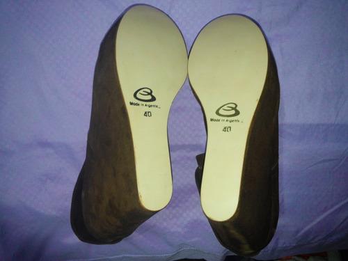 zapatos bruno manetti con plataforma, talle 40, nuevos!!