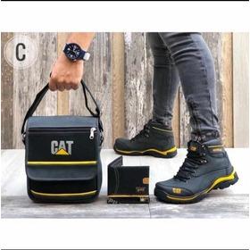 Zapatos Caballero, Botas Caballero+bolso+billetera, Trio