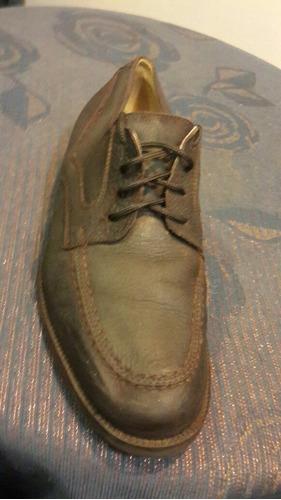 zapatos caballero cuero natural 43 impecables 12oo
