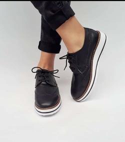 en venta 4894e e85a0 Zapatos Calzado Oxford De Mujer