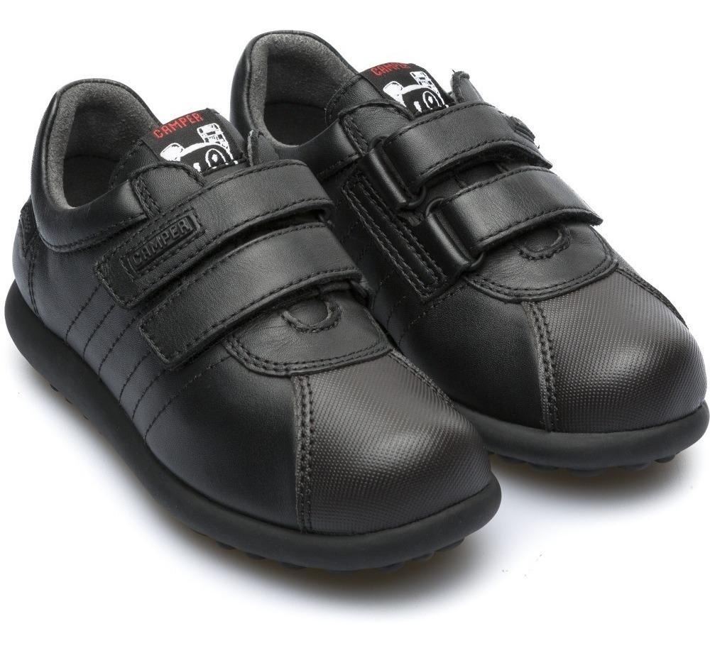 Zapatos Camper Pelotas Negro Niños Escolar 15 Mx 25 Eur