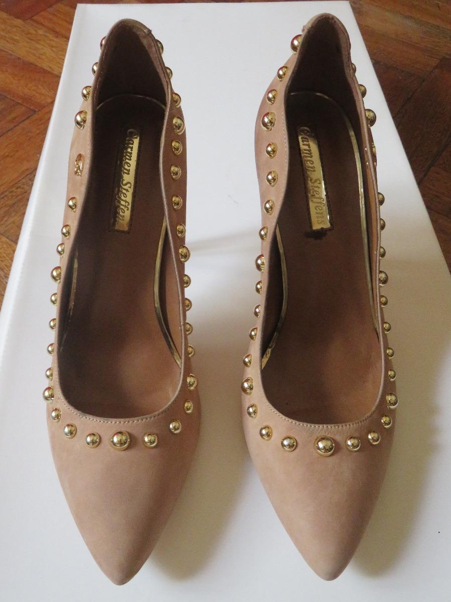 b347dcd28 Zapatos Carmen Steffens - Beige Con Dorado Numero 39 - $ 2.990,00 en ...