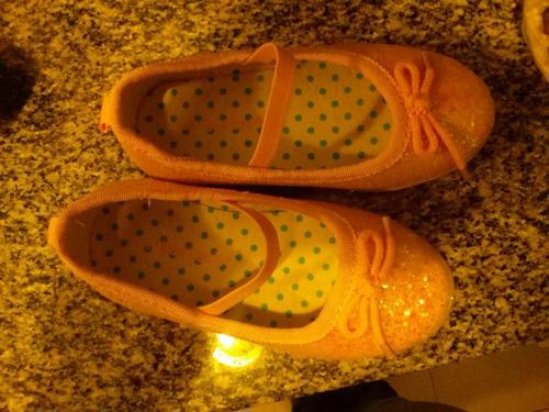 zapatos carter talle 6. (22) de gliters preciosos muy poco u