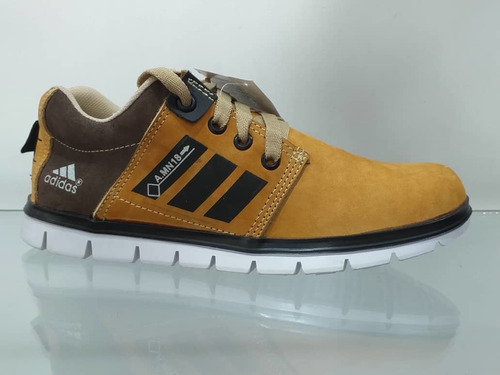 zapatos casual adidas 100%  cuero