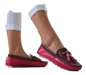 Casuales Zapatos Cuero Apaches En Mocasin Dama 3540 Tcu3FK1Jl5