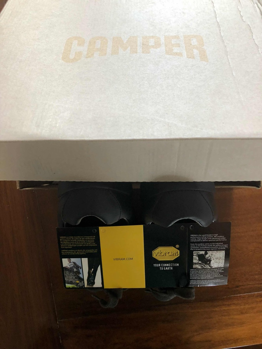 Oxford Gris Casuales Camper Zapatos Españoles nPk80NXwO