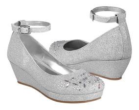 Zapatos Glitter 18 353 Casuales Stylo 21 Plata KlF1Jc