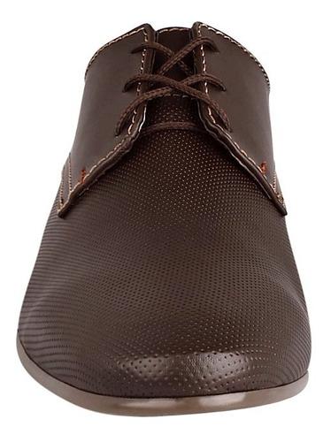 zapatos casuales stylo 7002 piel cafe