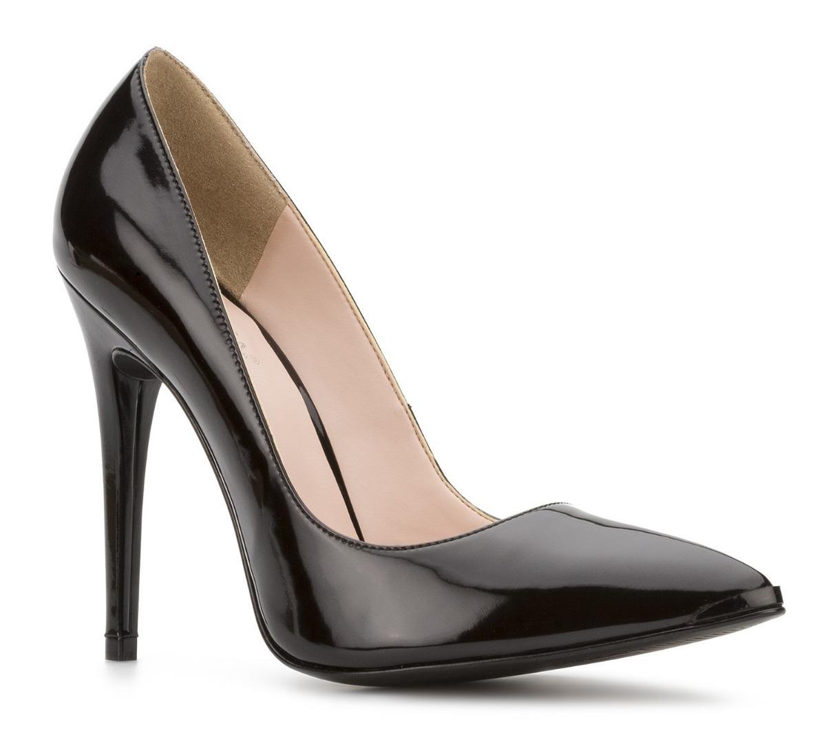 a559c745cc1ad zapatos cerrados zapatillas andrea negras charol tacón 11 cm. Cargando zoom.