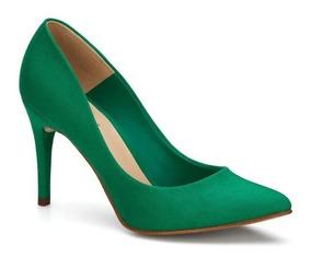Tacón De Cerrados Andrea Aguja Zapatos Verdes Zapatillas yn8Pv0OmNw