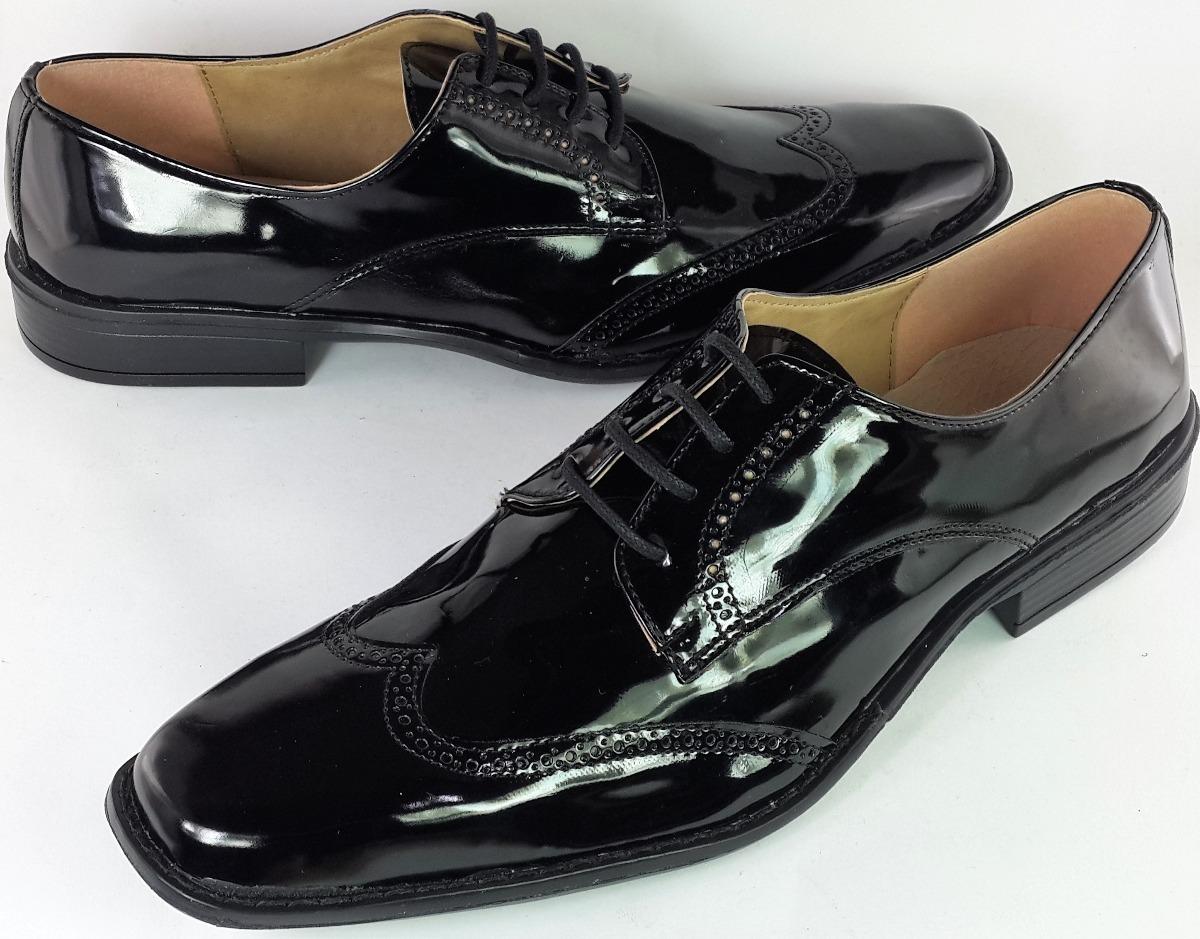 De Art Importado Zapatos Pu Vestir Charol Hombre Local 777 8001 4qqY6w