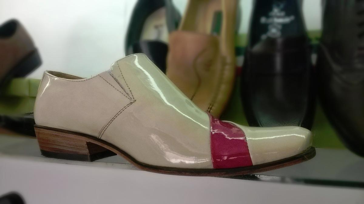 Zapatos charol hueso vestir hombre calzado cuero botas s 229 90 en mercado libre - Charol zapateria ...