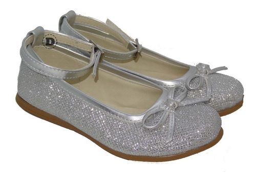 zapatos chatitas con brillo tipo lurex dreams calzado caballito m con pulsera