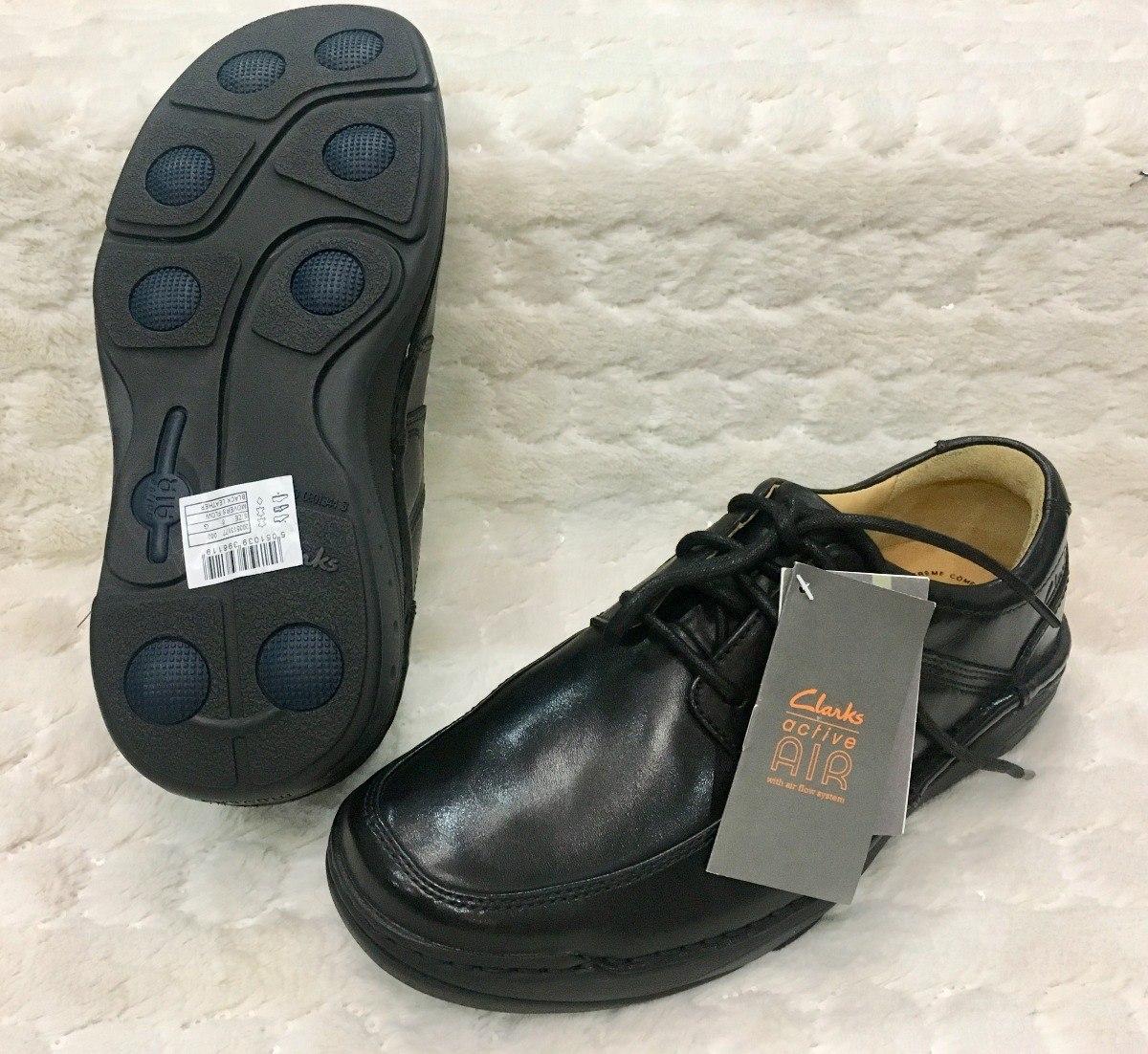 Zapatos Clarks Active Air Negro Orig. No.u.s. 6. Vzla 39.5