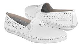 Zapatos Piel Blanco Flexi 35402 Para Clásicos Dama nPkw0O
