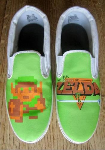 zapatos classic green zelda diseño hecho a mano marca collec