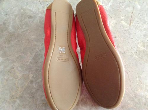 zapatos coach originales 100% flats