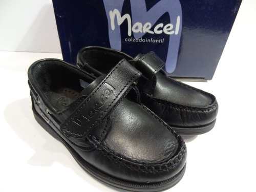 zapatos colegial marcel nautico abrojo varon cuero dreams g501