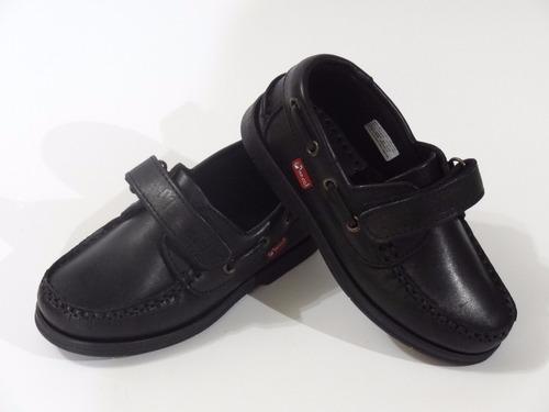 zapatos colegial marcel nautico cuero abrojo dreams calzado caballito m